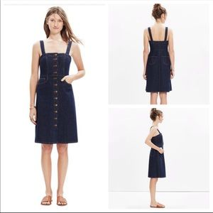 Madewell Overall Denim Button front dress